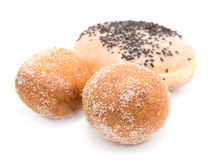 Fried doughnuts Royalty Free Stock Photos