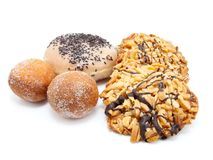 Fried doughnuts, Cookies Royalty Free Stock Photography