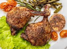 Free Fried Duck Legs, Ready To Serve. The Finished Dish For Use In Th Stock Image - 117751271