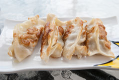 Fried Dumplings Chinese Style Cuisine as Meal Royalty Free Stock Images