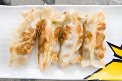 Fried Dumplings Chinese Style Cuisine as Meal Stock Photography