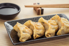 Fried dumplings on plate Royalty Free Stock Image