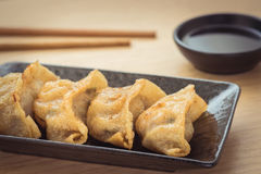 Fried dumplings on plate Royalty Free Stock Photos