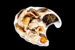 Fried dumplings on plate Royalty Free Stock Images