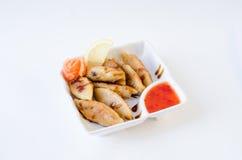 Fried dumplings with shrimp Stock Photos
