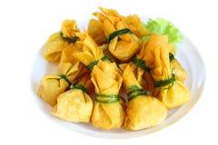Fried dumplings is vegetarian food. Stock Photography