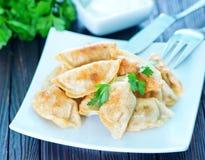 Fried dumplings Stock Photos