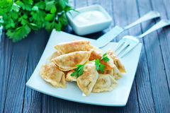 Fried dumplings stock photography