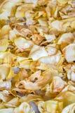 Fried durian on tray Stock Photos