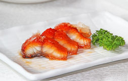 Fried Eel Stock Photography