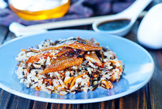 Fried eel with rice Royalty Free Stock Images