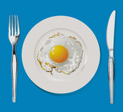 Fried Egg Imagem de Stock Royalty Free