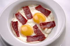 Fried egg aand bacon Royalty Free Stock Image