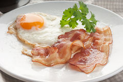 Fried Egg And Bacon Royalty Free Stock Photos