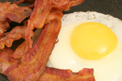 Fried egg & bacon Royalty Free Stock Photos