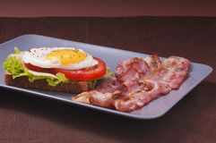Fried egg and bacon Stock Image