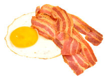 Fried Egg And Bacon Rashers Fotografia Stock Libera da Diritti