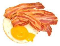 Fried Egg And Bacon Rashers Royalty Free Stock Images