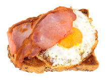 Fried Egg And Bacon On Toast Royalty Free Stock Photo