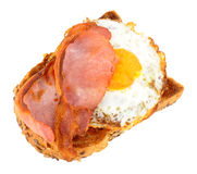 Fried Egg And Bacon On Toast Royalty Free Stock Photos