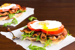 Fried Egg BLT Royalty Free Stock Images