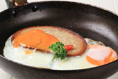 Fried egg and bread Stock Image