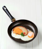Fried egg and bread Royalty Free Stock Photography