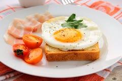 Fried egg for breakfast Stock Photo