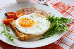 Fried egg for breakfast Royalty Free Stock Photography