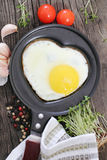 Fried egg. Breakfast Stock Photography
