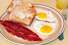 Fried egg breakfast Stock Images