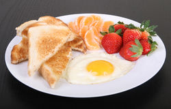 Fried egg breakfast Royalty Free Stock Image