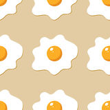 Fried egg in cartoon style. Royalty Free Stock Images