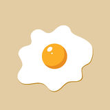 Fried egg in cartoon style. Royalty Free Stock Photos