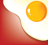 fried egg closeup background Royalty Free Stock Photo