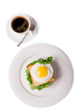 Fried egg and coffee Royalty Free Stock Photo