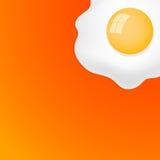 Fried Egg con fondo arancio Fotografia Stock Libera da Diritti