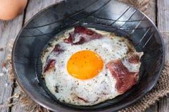 Fried Egg con tocino Imagen de archivo