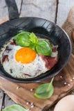 Fried Egg con tocino Fotografía de archivo libre de regalías
