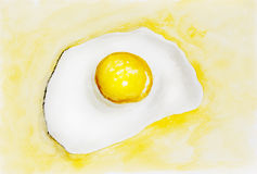 Fried egg concept Royalty Free Stock Images