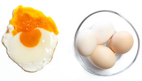 Fried egg concept Royalty Free Stock Photos