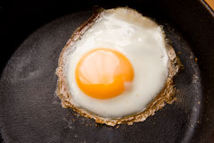 Fried Egg Detail Stock Photography