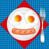 Fried Egg Dirigez la conception pour le menu de petit déjeuner, café, restaurant Photos libres de droits
