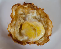 Fried egg. S on a plate on a white background Stock Images