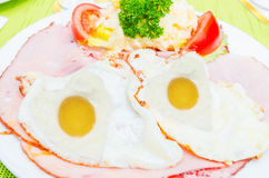 Fried Egg Face Stock Photography
