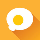 Fried Egg Flat Icon Stock Images