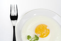 Fried egg food Stock Photos