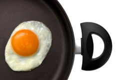 Fried egg in a frying pan Stock Photo