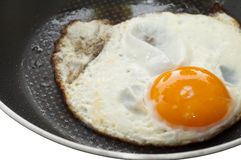 Fried egg in frying pan Stock Photography