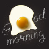 Fried egg in a frying pan Stock Photography